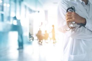doctor standing in hospital